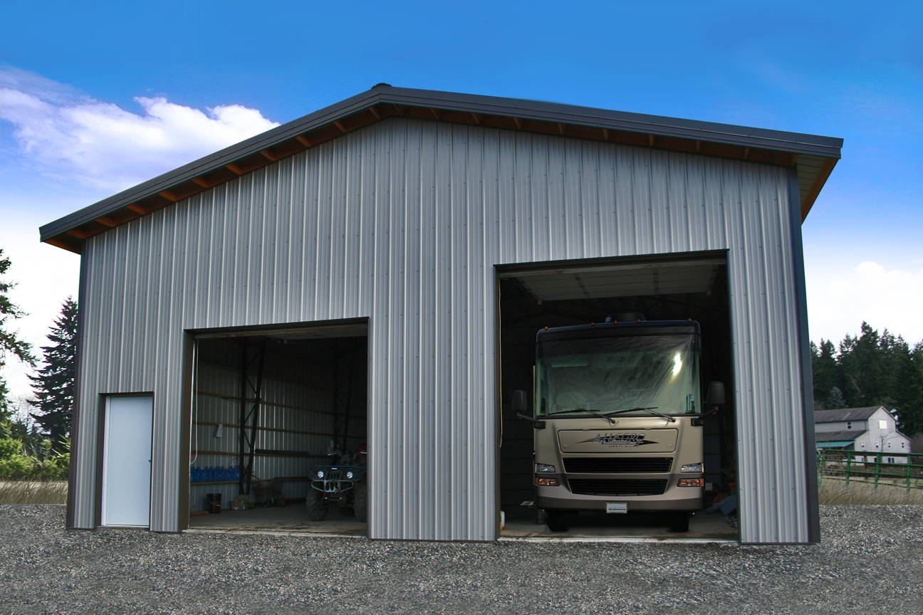 Vaulted clearspan truss web steel buildings northwest llc for Clear span garages