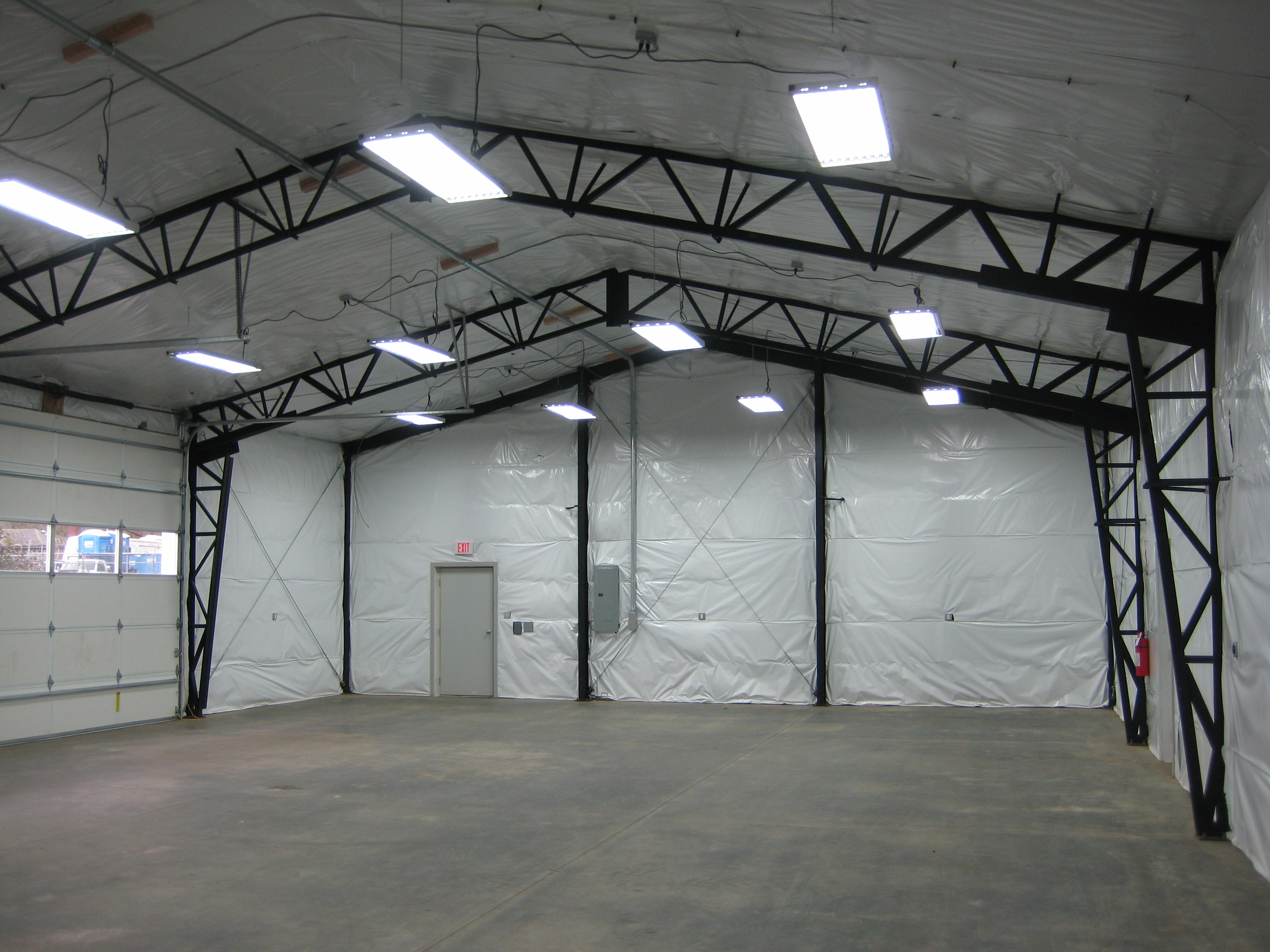 Vaulted Clearspan Truss | Web Steel Buildings Northwest LLC