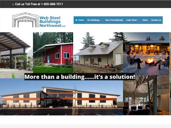 Web Steel Buildings NW, LLC New Site Launch